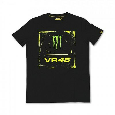 New Official Valentino Rossi VR46 Monster T-Shirt Black/Yellow  MOMTS 115004