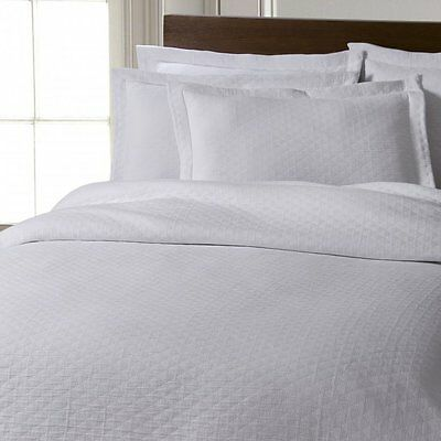 Chester stonewashed pure cotton bedspread, cushions, pillowsham - white