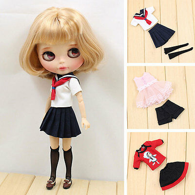 Fashion Casual Outfit Clothes Dress Clown/Student Suit For Blythe Dolls