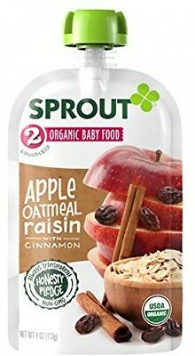 Sprout Organic Baby Food Pouches, Stage 2 Sprout Baby Food, Apple Oatmeal With