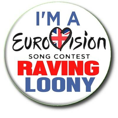 """Large Eurovision Song Contest Party Badges~ 55 Mm/ 2.2"""" Fancy Dress Etc."""