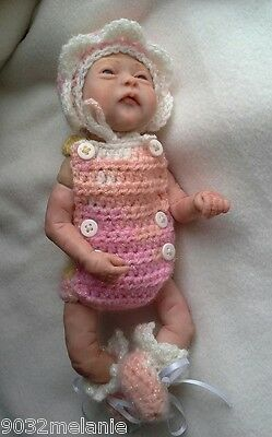 "crochet outfit for 10"" ooak baby doll"