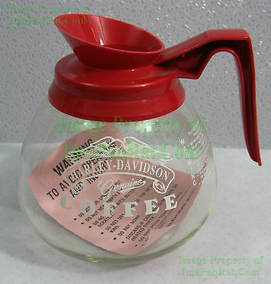 Vintage NITF Genuine Harley-Davidson Commercial Coffee Carafe Decanter Pot MUSTC