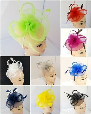 Elegant Headband and Clip Fascinator Wedding Race Royal Ascot Occasion 11 colour