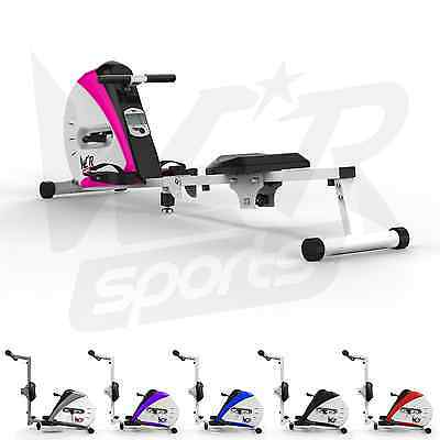 Rowing Machine Body Tonner Home Rower Fitness Cardio Workout Weight Loss - Pink