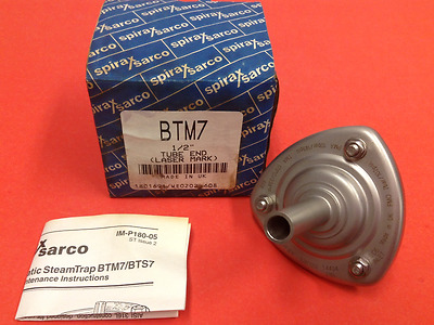 "Spirax/Sarco - P/N: BTM7, 1/2"" - S/S Steam Trap, Tube End - NEW"