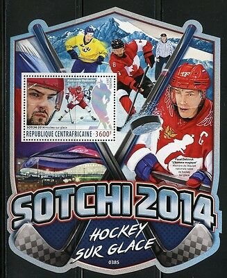 Central Africa 2017 Ice Hockey Souvenir Sheet Mint Nh