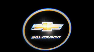2Pc Silverado 5W Led Emblem Door Projector Ghost Shadow Puddle Logo Light