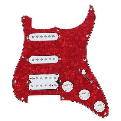 Loaded Prewired Pickguard for Electric Guitar---Red D7M6