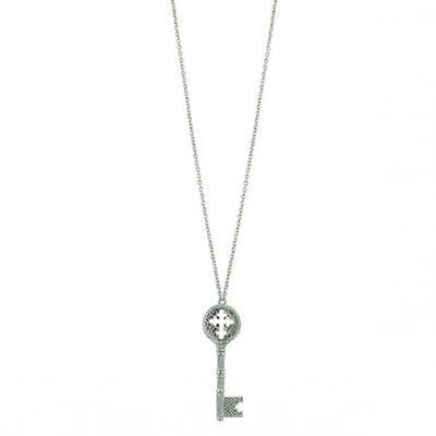 The Vatican Library Kingdom Silver Holy Cross Key Necklace Free Shipping