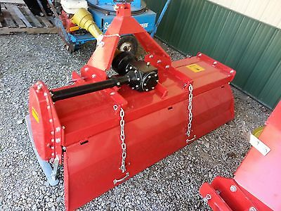 6' Rotary Tiller Farmline Gear Driven 3 Point Tractor Attachment NEW Adjustable