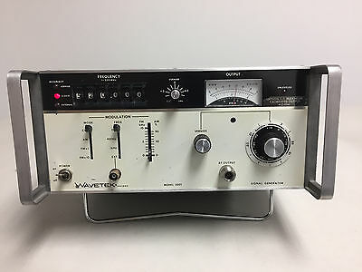 Wavetek Model 3001 1 -520 MHz Signal Generator Option 1 Used Tested Ships Free