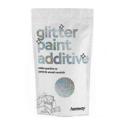 Hemway Silver Holographic for Emulsion Paint Additive - Walls Ceilings DIY