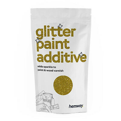 Hemway Gold Crystal Glitter for emulsion wall paint 100g sparkle additive DIY