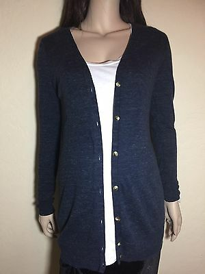 New S Stretchy Heathered GAP MATERNITY Knit Lightweight Cotton Sweater Cardigan