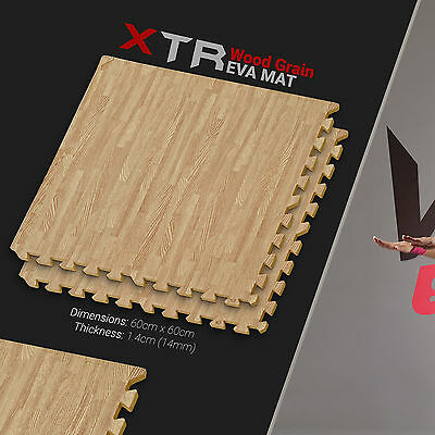 YogaFlex EVA Soft Floor Mat - Wood Pattern - Dark Wood