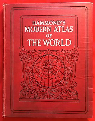 Hammond's Modern Atlas of The World, 1928, Irish Free State Listed on Maps