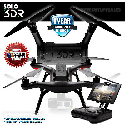 3DR - Solo Drone - Black - Brand new -Quadcopter SA11A for GoPro Camera