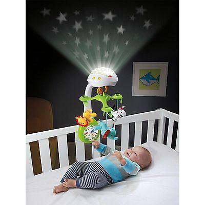 Mobile Projection Baby Music Crib Musical Fisher Price Rainforest Toy 3-in-1 New