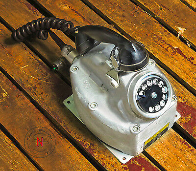 Rare Crouse-Hinds Qsk5A Rotary Telephone For Hazrdous Locations, Explosion Proof