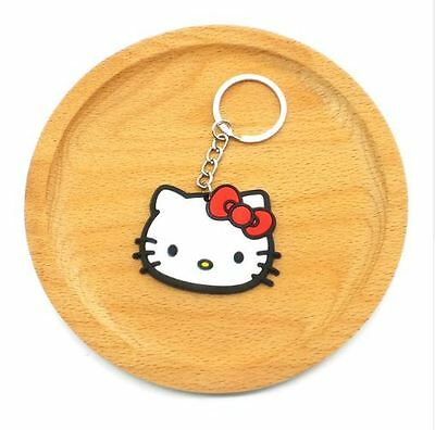 Cute Soft-Rubber Hello Kitty Keychain. New in Packaging!