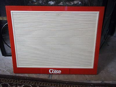 Coca-Cola countertop menu board sign