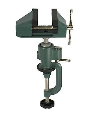 """2"""" Bench Vise Table Top Clamp Press Locking Swivel Base Heavy Duty with Anvil"""