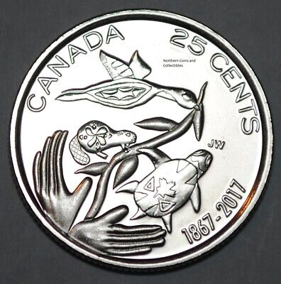 Canada 1867-2017 BU 25 Cents Canadian 150th Anniversary -Hope For A Green Future