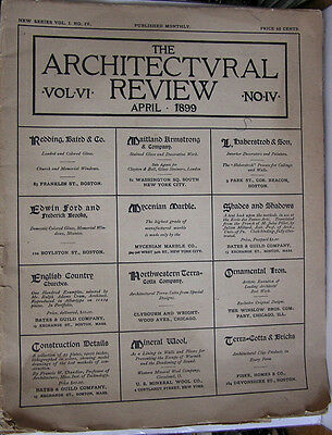 Rare Original April 1899 Issue of The Architectural Review Vol 1 No IV