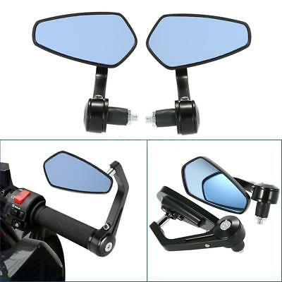 "1 Pair Motorcycle End Bar Rearview Mirror 7/8"" Handle Bar 360° Adjustable Side"