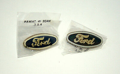 Set of 2 Vintage Ford Automotive Blue Oval Sign Car Lapel Hat Pin New NOS 1980s