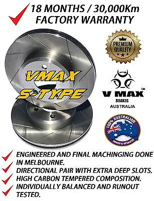 SLOTTED VMAXS fits TOYOTA Camry ACV40 2.4L 2006-2009 FRONT Disc Brake Rotors