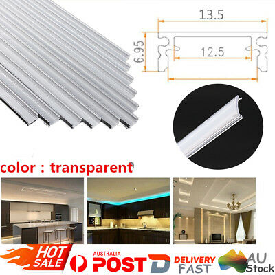 6XAluminium LED Strip Lights Channel Profile Bar Diffuser Cabinet Floor Track 1M