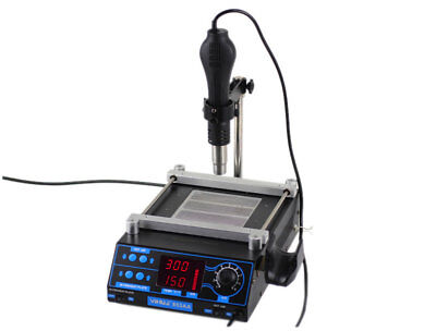 YIHUA-853AA 2-in-1 Hot Heat Gun Preheating Soldering BGA Rework Station Desolder