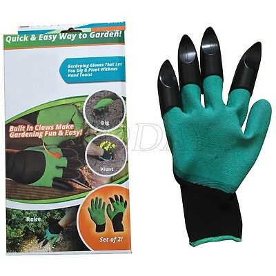 4 ABS Plastic Claws Beach Planting Garden Gardening Gloves Protective Digging