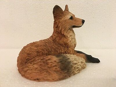 Vintage '89 Castagna Red Fox Figurine Made In Italy Signed Orig Foil Label EUC