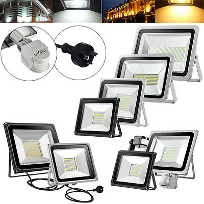 10W 20W 30W 50W 100W 150W 200W 300W 500W LED Flood Light PIR Sensor Lamp Au Plug