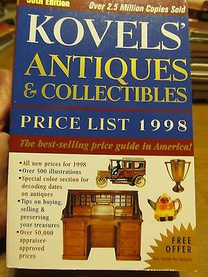 Kovels' Antiques and Collectibles Price List 1998 by Ralph M. Kovel and Terry H.