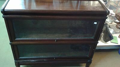 Solid Mahogany Barrister Step back Stacking Bookcase,