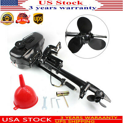 2 Stroke Outboard Motor Fishing Boat Trolling Engine +Water Cooling System 3.6HP