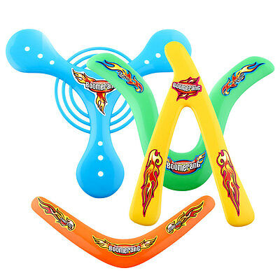 4X 4Shapes Returning Sporting Throwback Kids ChildrenToys Colorful Boomerang
