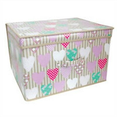 Folding Storage Chest - Box Toy Kids Childrens Tidy Large Clothes Bedding Girls