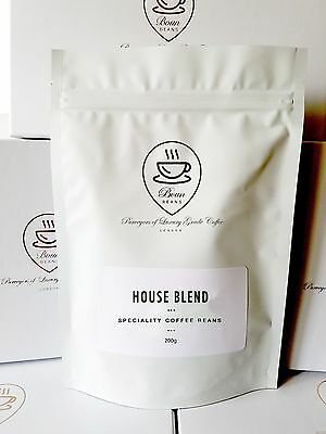 Freshly Roasted Coffee House Blend 100% Arabica Speciality Grade Coffee 200g