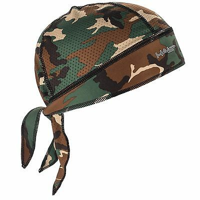 New Halo Headband Protex Bandana Camo Green. Breathable Fabric Blocks Sweat & UV