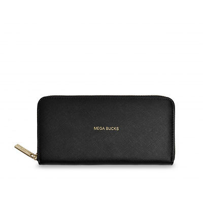 Katie Loxton - Mega Bucks Perfect Purse - Black Purse with Gold Lettering