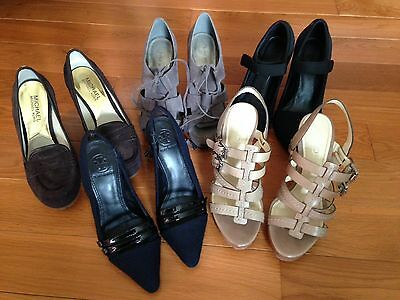 Lot of 5 Women's Shoes Size 6 Tory Burch, Coach, Michael Kors, 9 West, Ken Cole