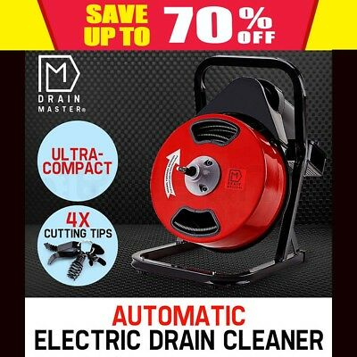 DRAIN MASTER Electric Drain Cleaner Rigid Plumbing Auger Eel Pipe Sewerage