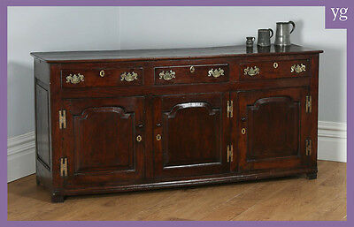 Antique English Shropshire Georgian Low Dresser Base Sideboard Cupboard Cabinet