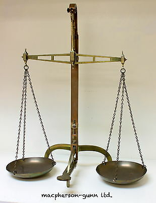 Antique Brass W.T. Avery Ltd. Apothecary Scales w/o Weights..very nice condition