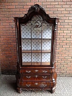 Stunning Vintage Display Cabinet Chippendale Style Bombay Vitrine (REDUCED)